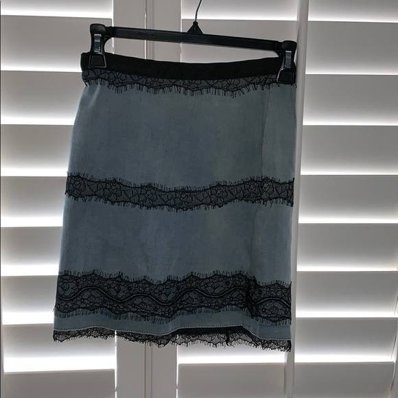 Topshop Dresses & Skirts - Topshop Tall Denim Lace Skirt